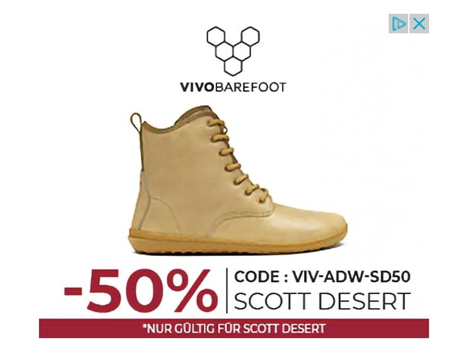 50% auf Vivobarefoot Scott Desert 60€