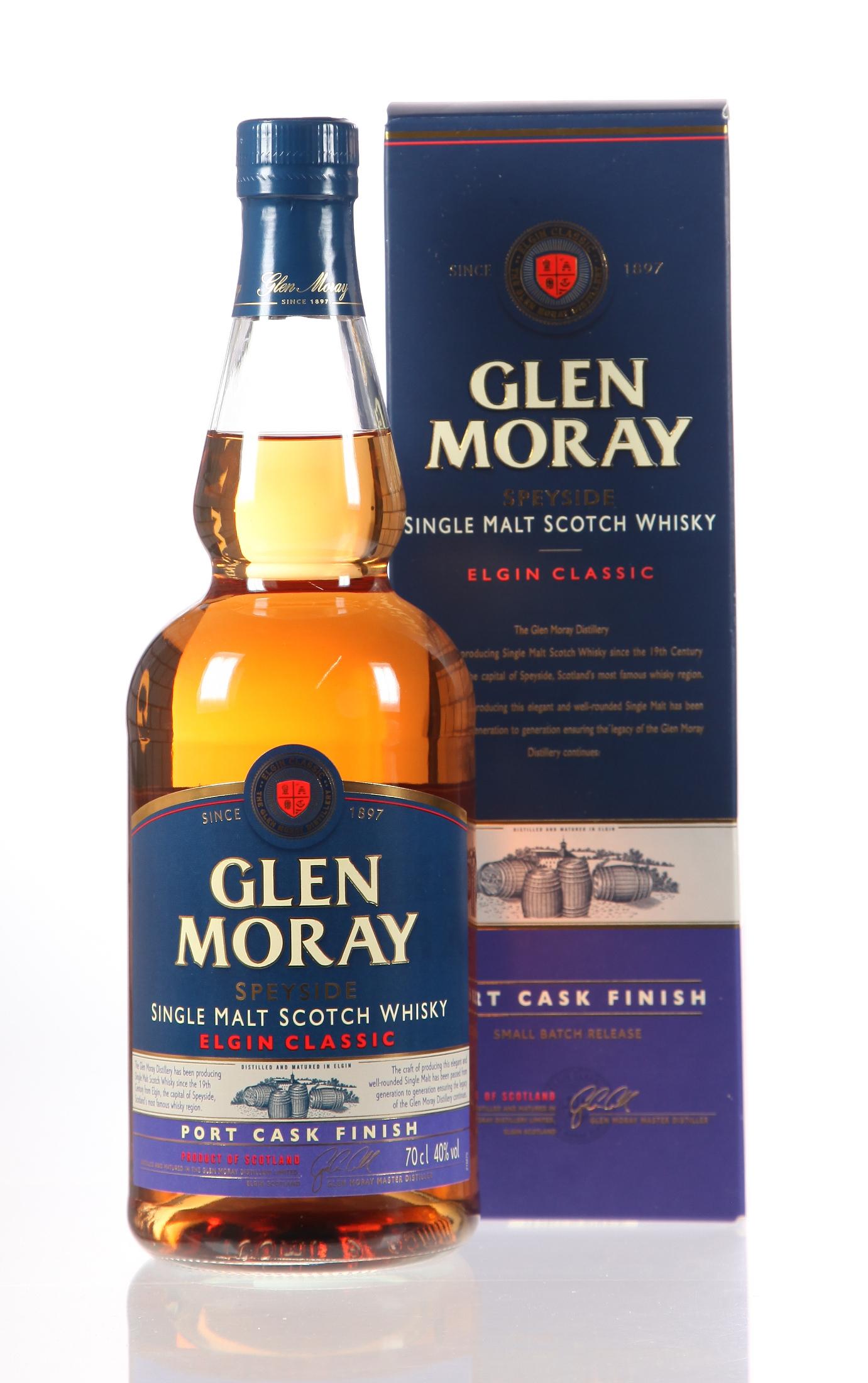 Singlemalt Whisky No Age Glen Moray Port Cask Finish