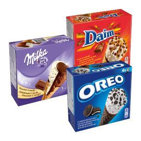 Oreo, Daim & Milka Ice Cream je 4x110ml Waffel für 1,99€ [Lidl ab 19.08.]