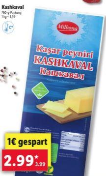 Kasar Peyniri - Käse 750g für 2,99€ [Lidl]
