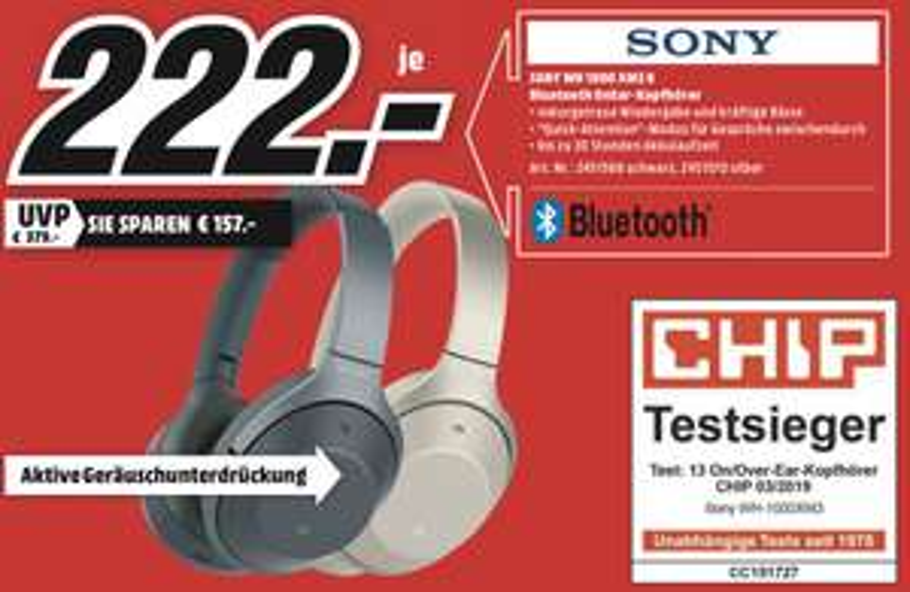 Lokal MediaMarkt Kempten: Sony WH-1000XM3 für 222€ - Kingston HyperX Cloud II für 57€ - Dyson V11 Absolute für 555€ usw.