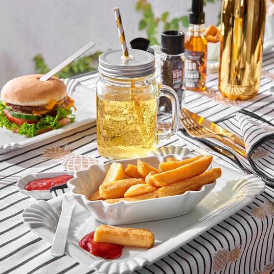 Lauras Home & Living-Special #22: Perfekt ausgestattet für die Gartenparty, z.B. 6x Henkelglas mit Deckel (450ml)