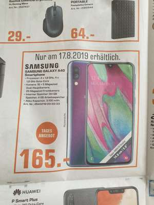 Samsung Galaxy A40 5,9 FHD+ 64 GB am 17.8 in Saturn Gelsenkirchen [Lokal]