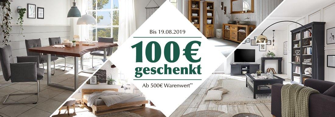 [Online und Lokal] 100 € Sofortrabatt ab 500 € Einkaufswert | möglich mit mehreren Artikeln