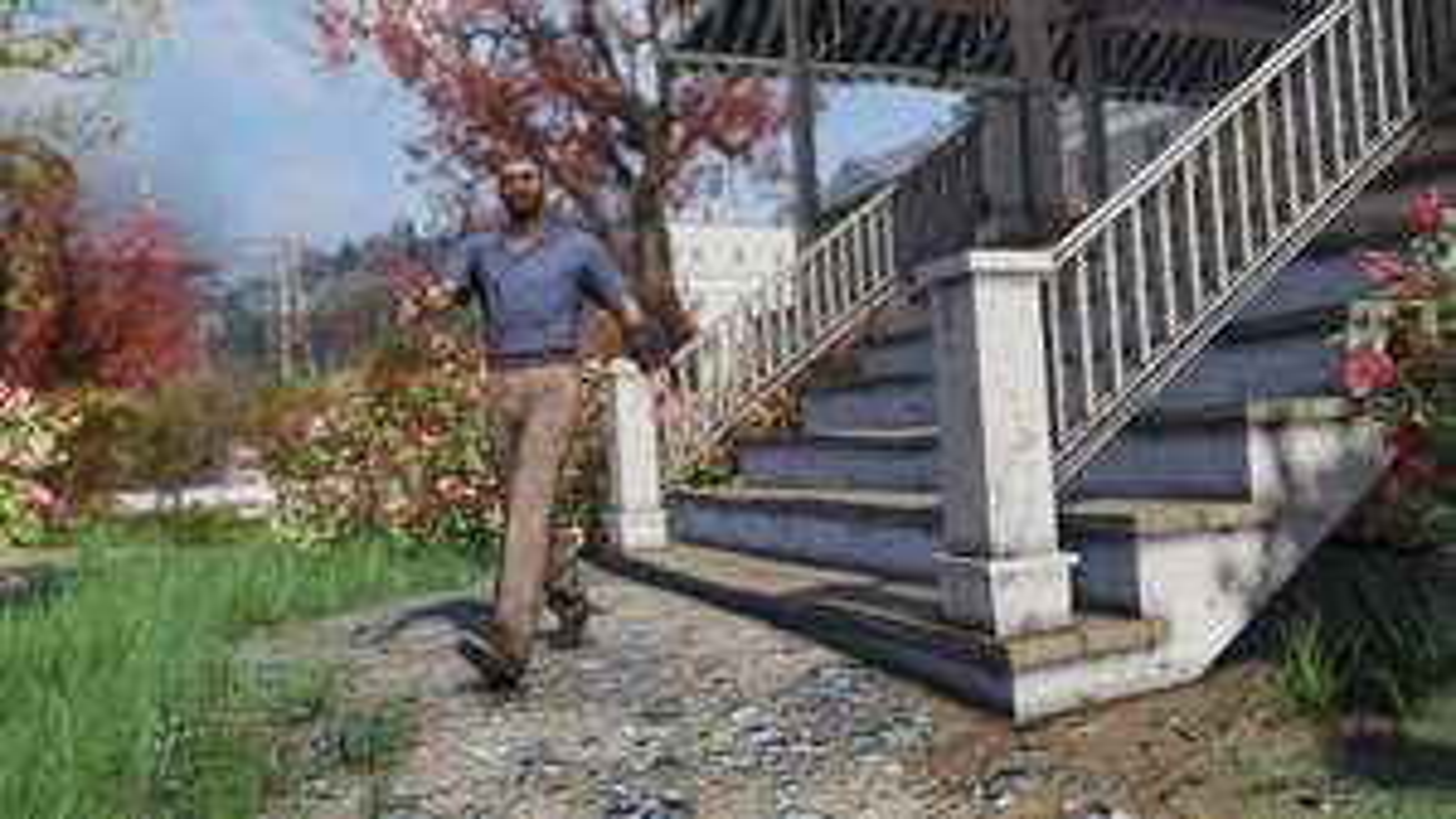 Fallout 76 - Blaues Shirt und Braune Hose-Outfit kostenlos im Ingame-Shop