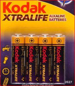 """Kodak Alkaline-Batterien """"XTRALIFE"""" , AA oder AAA, 4er Packung für 1 Euro [Kaufland]"""