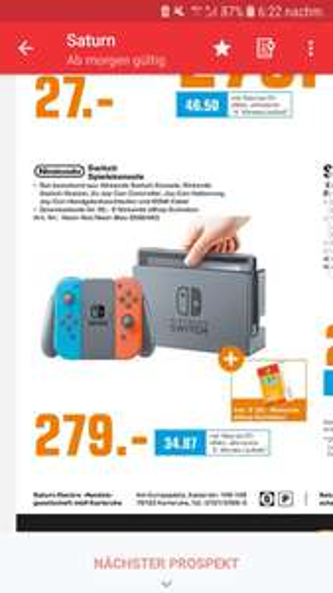 [LOKAL] Karlsruhe/Heidelberg/Pforzheim Saturn Nintendo Switch