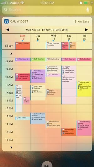 Week Calendar Widget Pro für IOS