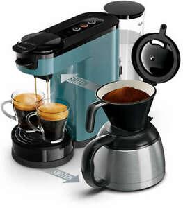 Philips Senseo Switch HD6591/40 (Pads und Filterkaffee, 1450W, 1l Wassertank, 1bar, 2-Tassen-Funktion, Kannenfunktion für 7 Tassen)
