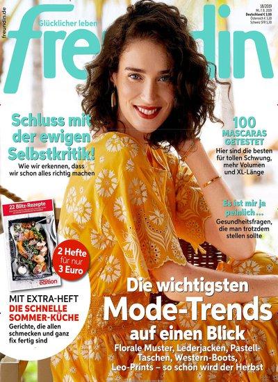 Zeitschrift Freundin im Abo (28 Ausgaben) für 70 € mit 70 € Amazon-Gutschein + 40° Payback Punkte