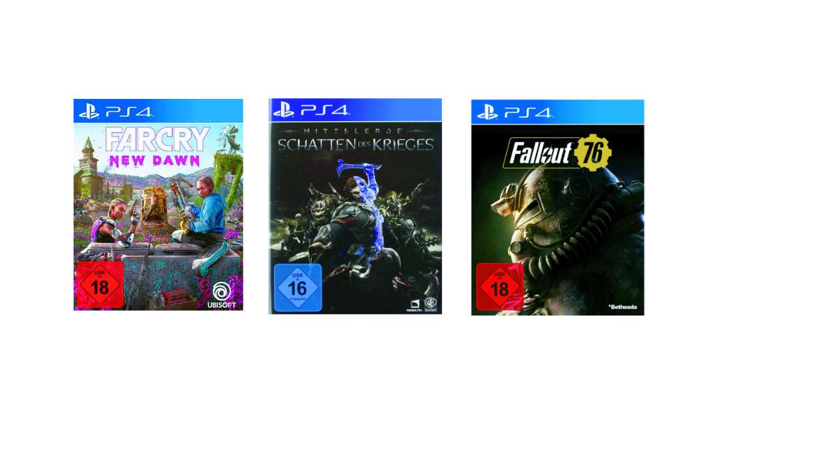 Spielegrotte Deals - Far Cry New Dawn, Fallout 76, Mittelerde 2 je 9,99 € für Playstation 4