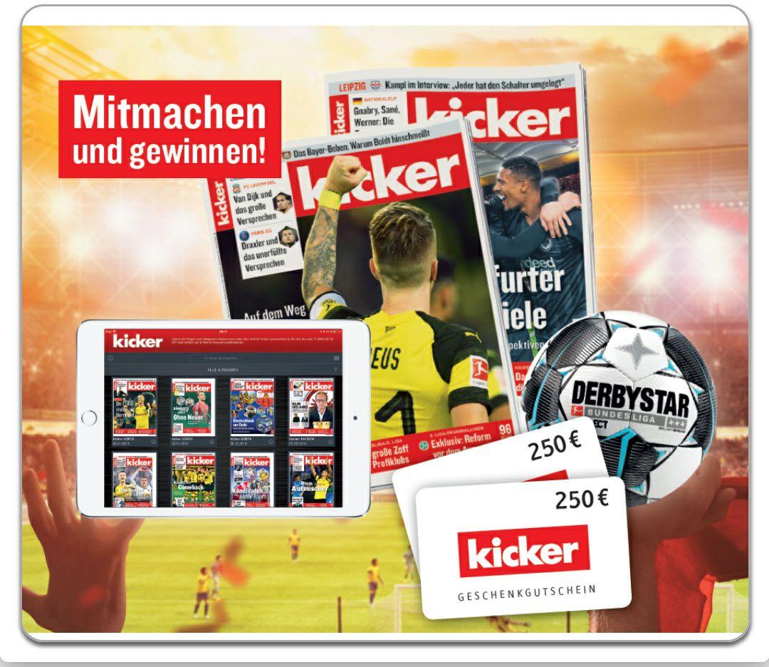 8 Ausgaben des Kickers Sportmagazin Gratis und Unverbindlich