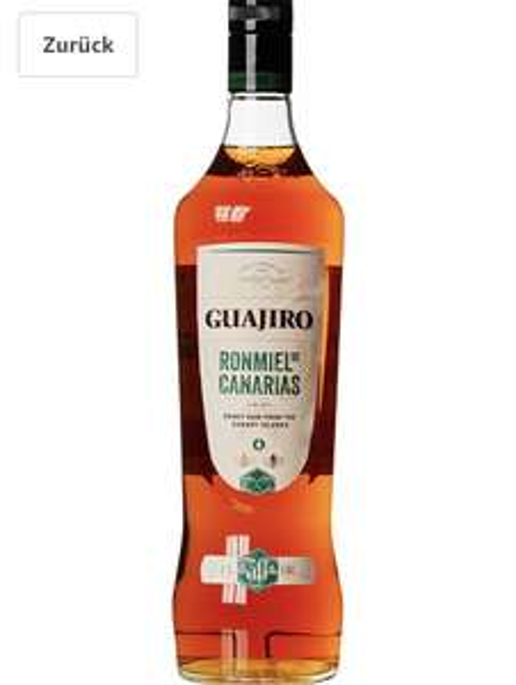 Ron Guajiro Ron Miel 1L Honig Rum für 12,99€