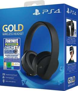 Sony PS4 Wireless Headset Gold Edition Fortnite Neo Versa Bundle Gaming Headset