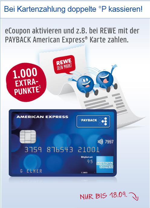 1.000 Payback Punkte für die Nutzung der Payback American Express [ggf. Personalisiert]
