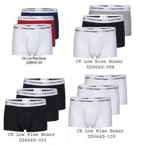 Calvin Klein Low Rise Trunks 3er Pack ALLE FARBEN !!!