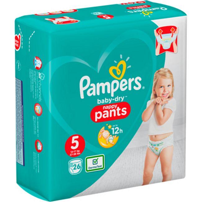 2x Pampers BabyDry Pants oder Windeln verschiedene Sorten in den Größen 3-6 (4,49€ pro Packung dank 5€ Sofortrabatt)