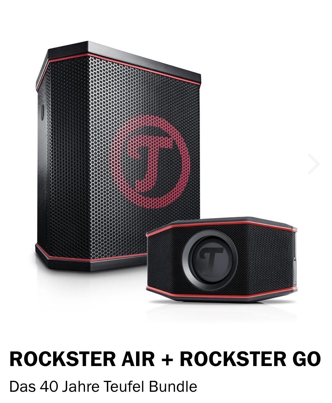 Teufel Bluetooth Lautsprecher ROCKSTER AIR + ROCKSTER GO Das 40 Jahre Teufel Bundle