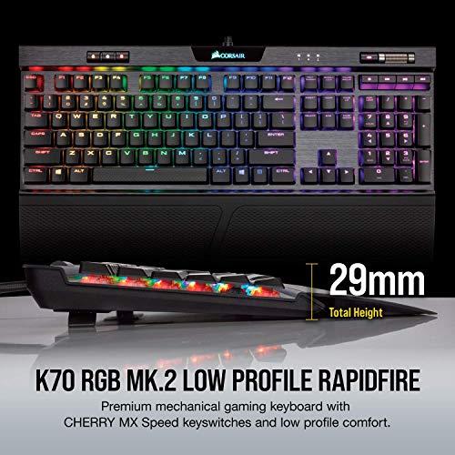 Corsair Gaming Tastatur K70 RGB MK.2 Low Profile