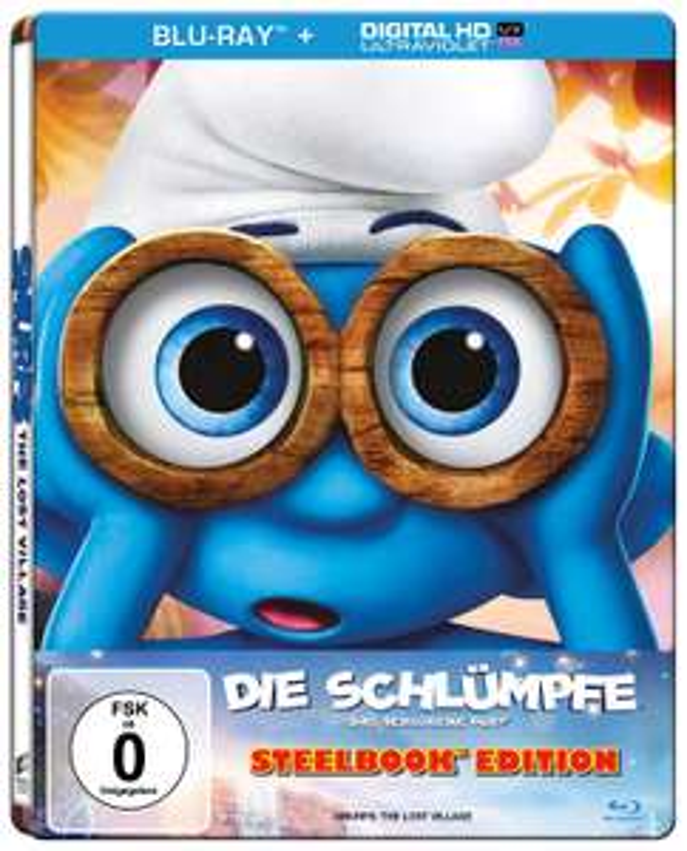Die Schlümpfe - Das verlorene Dorf Limited Steelbook Edition (Blu-ray + UV Copy) für 4€ versandkostenfrei (Saturn)