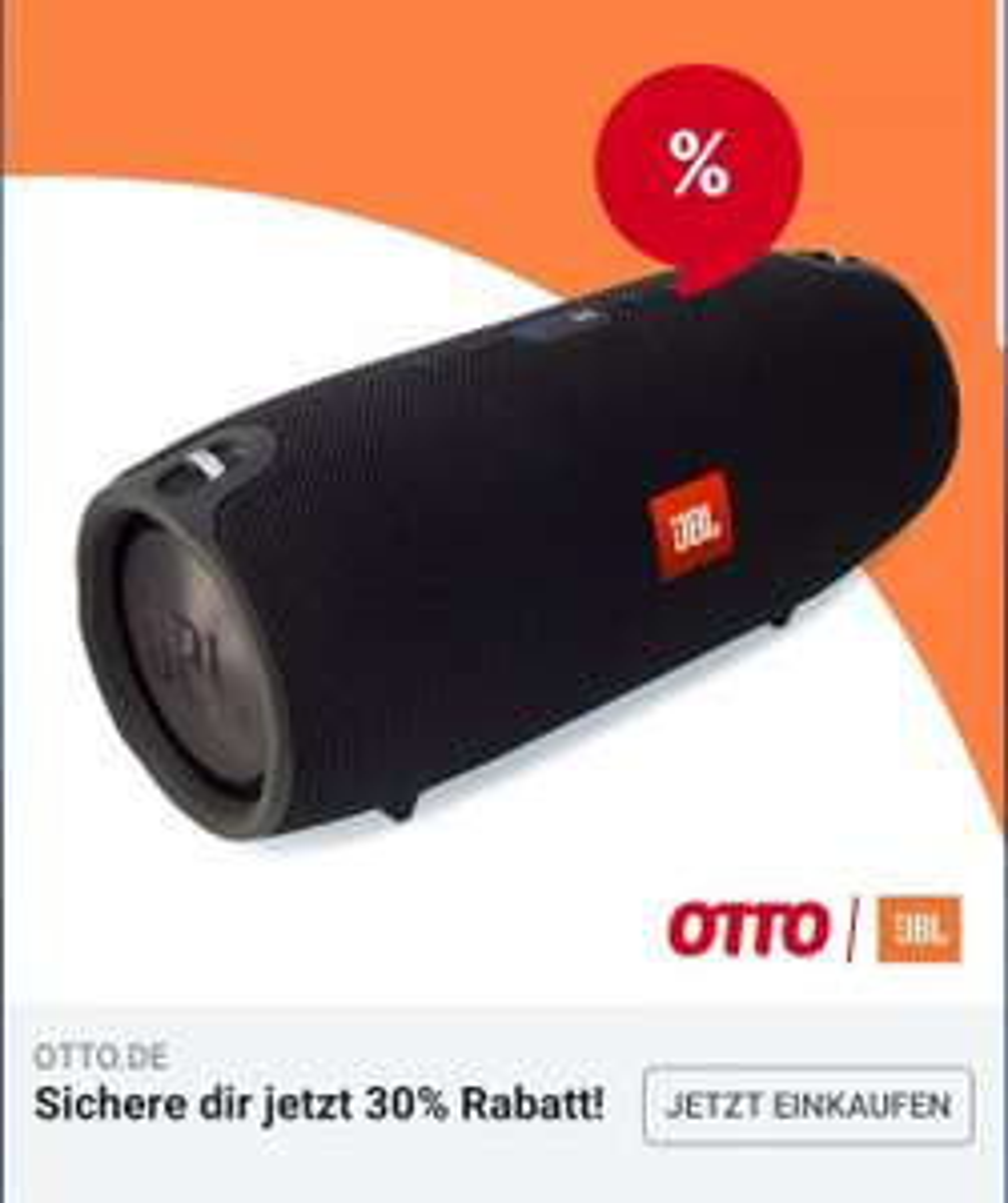 30% auf Lautsprecher bei Otto + 20€ Neukundenrabatt