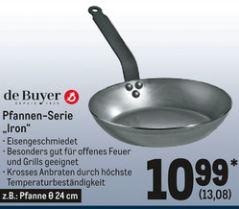 METRO: De Buyer z.B. 24cm Bauernpfanne / Eisenpfanne Iron (o. Wachs/Mineral B)