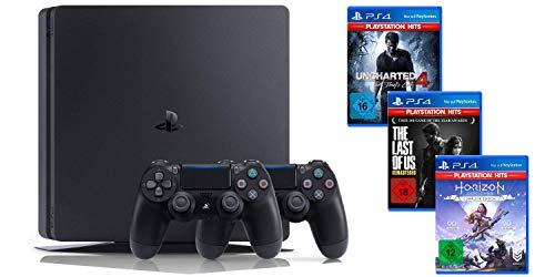 Playstation 4 Slim 1TB - 2x Controller + Last of us + Uncharted 4 + Horizon: Zero Dawn oder mit Days Gone[Amazon]