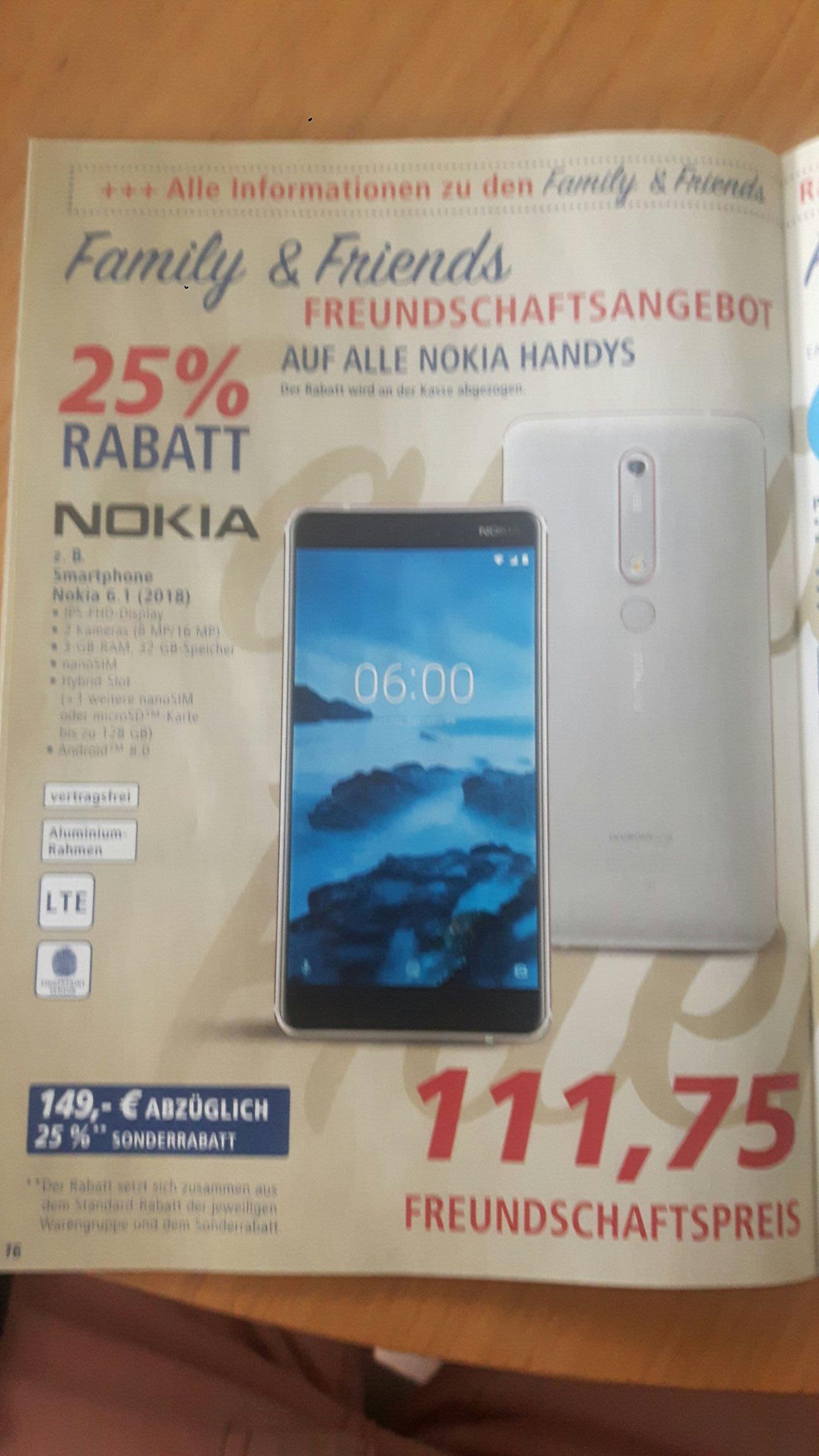 Nokia 6.1 und Nokia 7 Plus Superpreis (dank Family and Friends Coupon  bei Real)