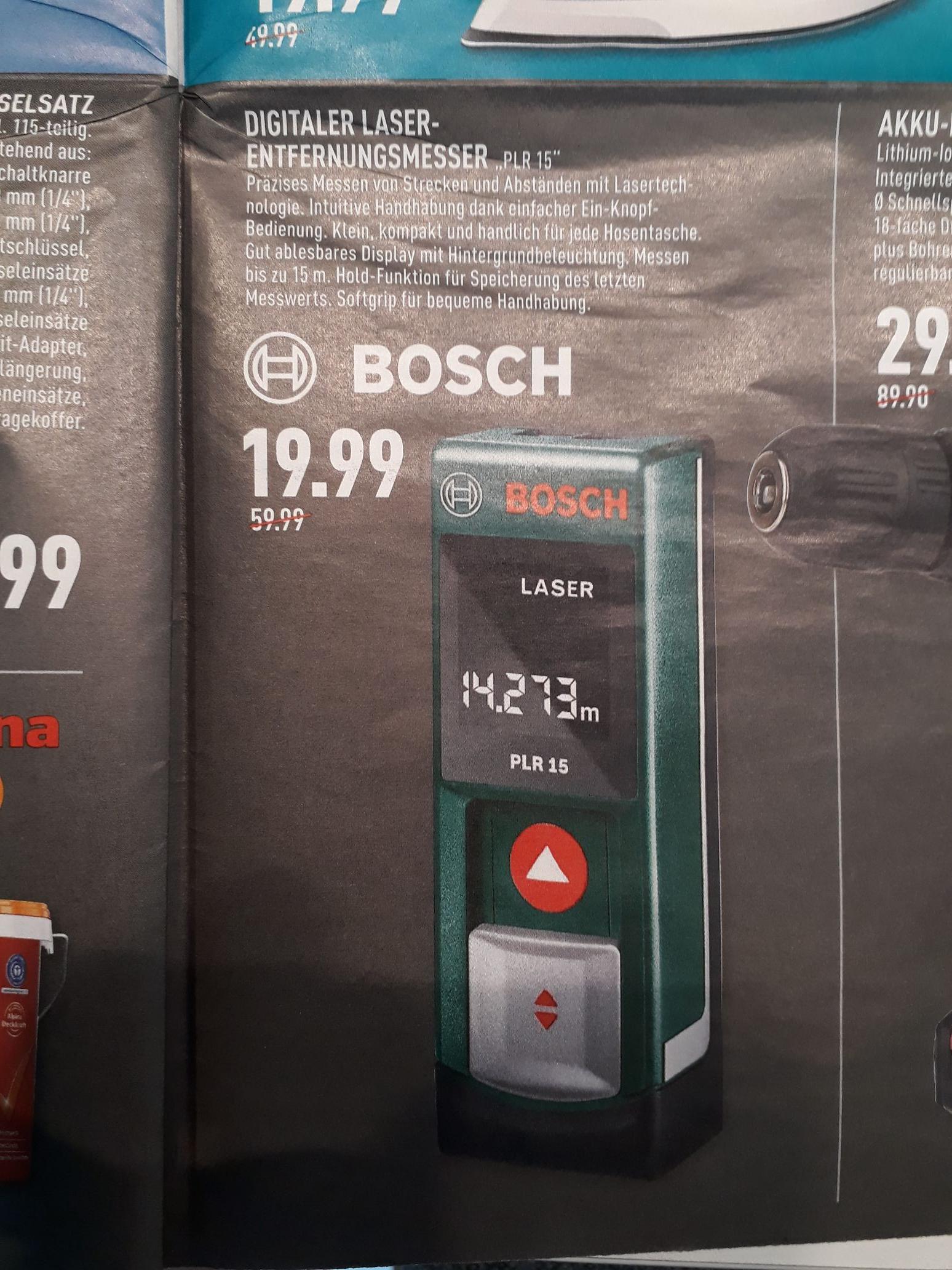 [Marktkauf] Bosch PLR 15 Laser-Entfernungsmesser