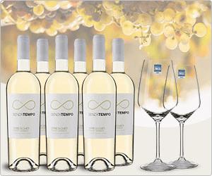 web.de Vorteilswelt: Vicampo 6 Flaschen Pinot Grigio + 6 Schott Zwiesel Weißweingläser für effektiv 12,49€