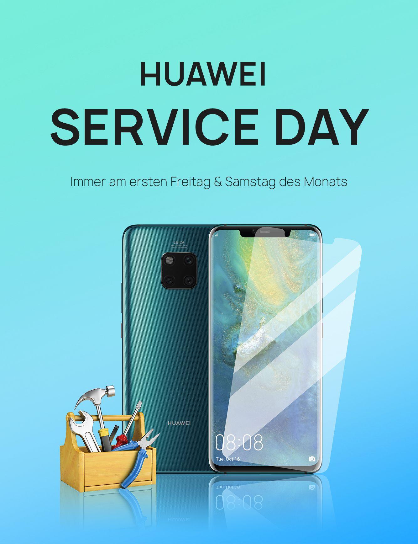 Gratis Folienservice und mehr am Huawei Service Day im HUAWEI Customer Service Center Berlin