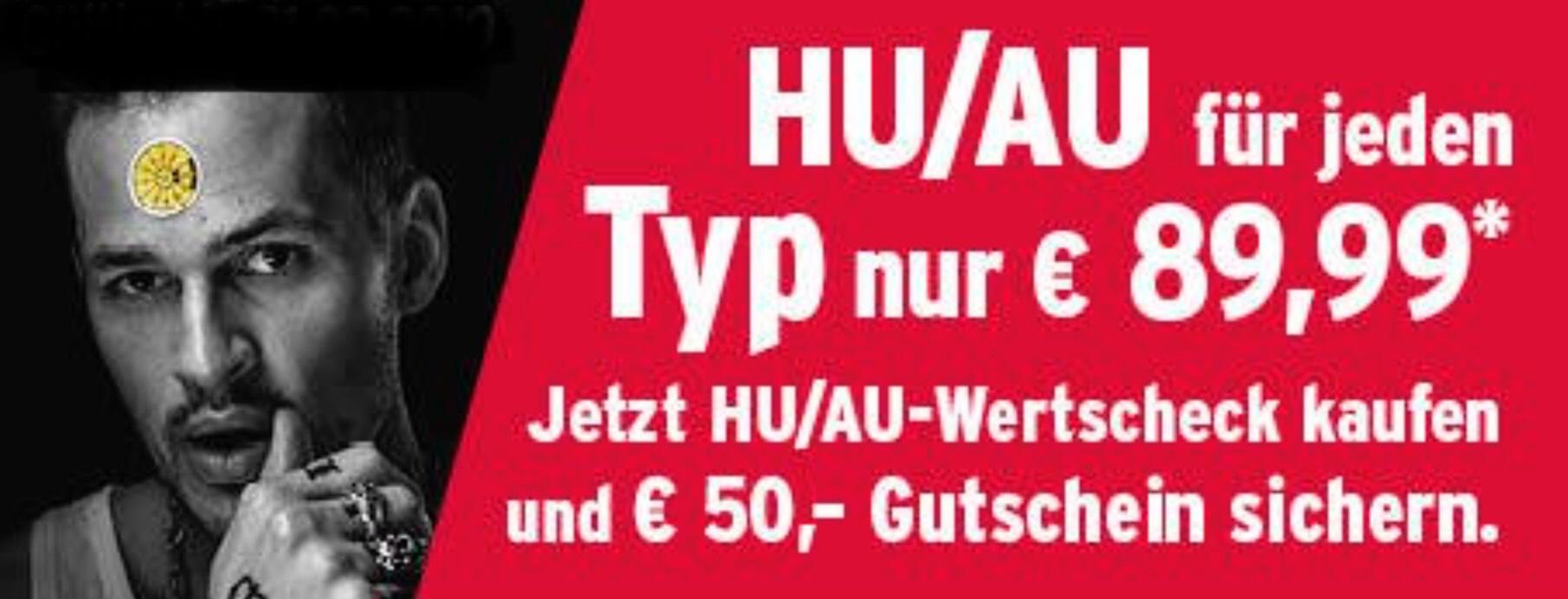 A.T.U. Bundesweit TÜV (HU&AU) für 89,99 € zzgl. 50,- € Gutschein