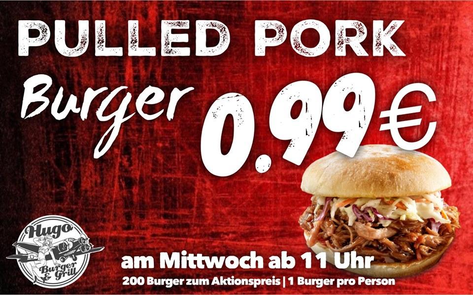 [Lokal Köthen] 200 Pulled Pork Burger bei Hugo für je 0,99€