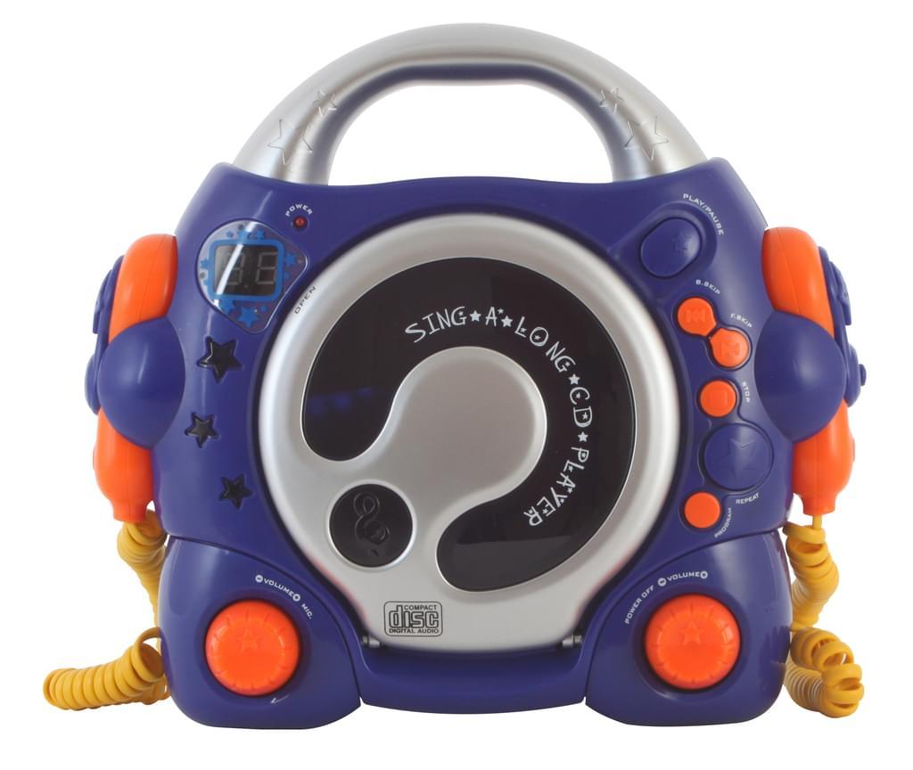 (@real) Bigben CD47BL, CD-Spieler, Karaoke Funktion, 2 Mikros