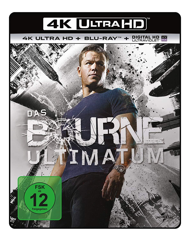 Das Bourne Ultimatum 4K (4K UHD + Blu-ray + UV Copy) für 11,99€ versandkostenfrei (Saturn)
