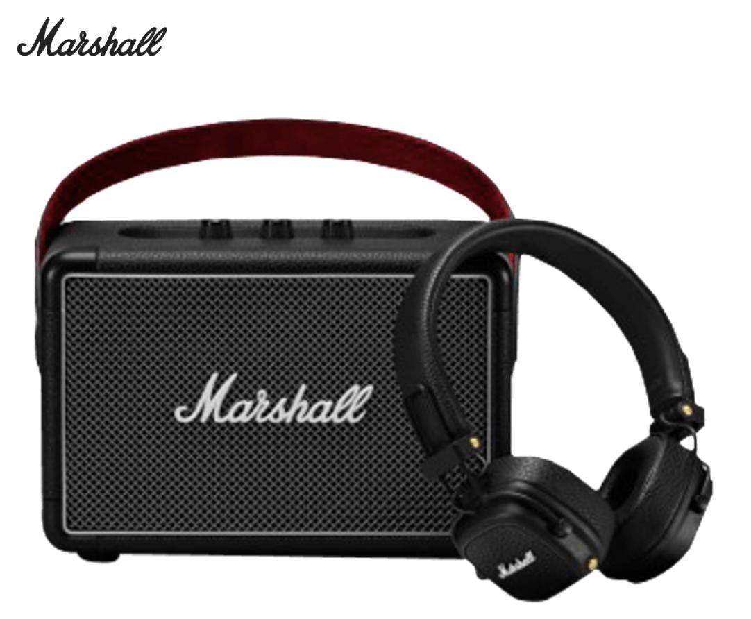 [Abholung] Marshall Kilburn II tragbarer Bluetooth-Lautsprecher + Marshall Major III - Faltbarer Bluetooth On-Ear Kopfhörer