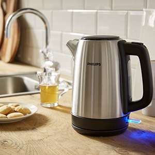 Philips HD9350/90 Wasserkocher (2200 Watt, 1.7 Liter, Edelstahl)
