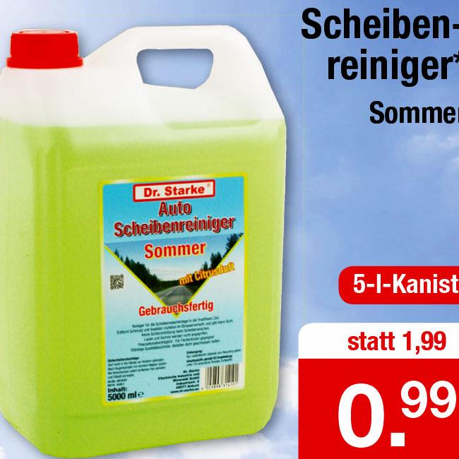 Sommer-Scheibenreiniger 5l Kanister für nur 99 Cent bei (Zimmermann)