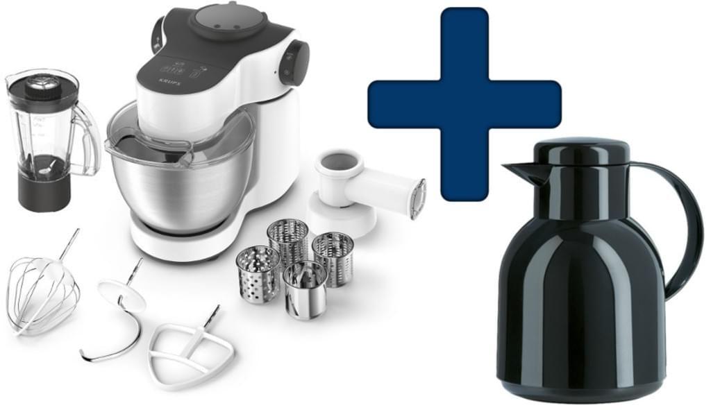 Küchenmaschine Krups KA2531 Master Perfect Plus mit Emsa Thermokaffekanne