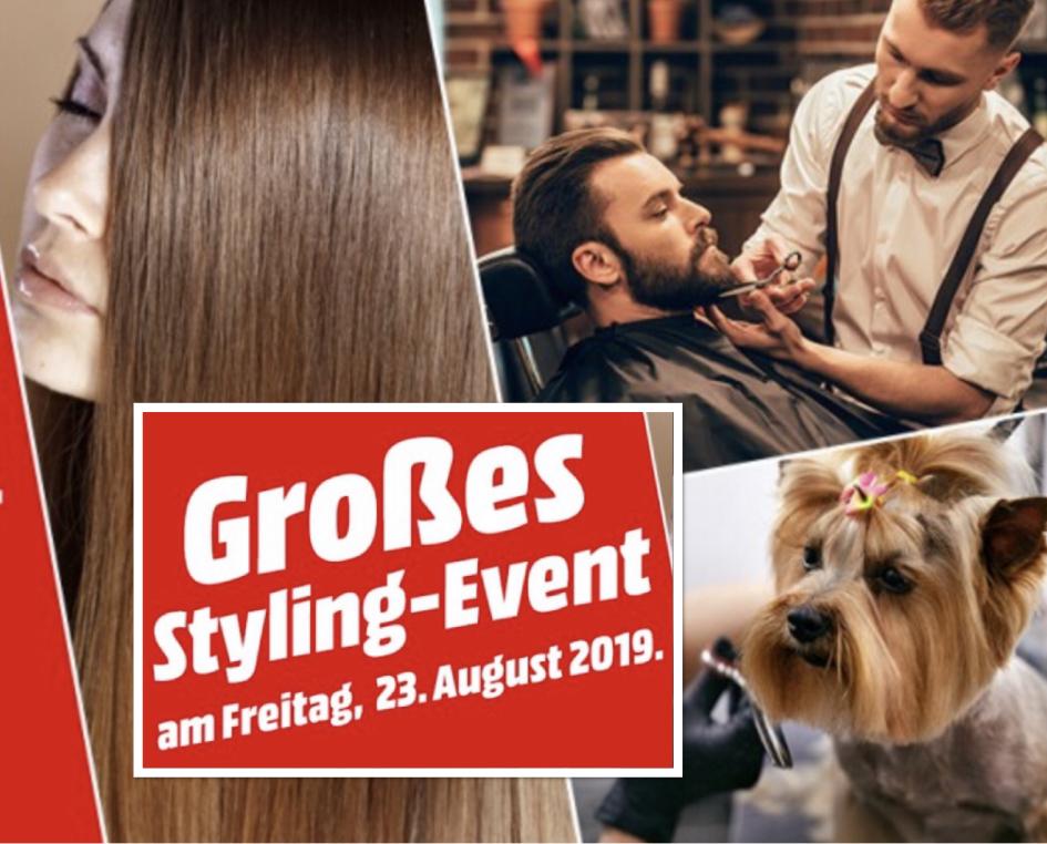 Lokal MediaMarkt Leipzig Höfe: Kostenloser Haarschnitt, Bartstyling oder Hundefrisur am 23.08.