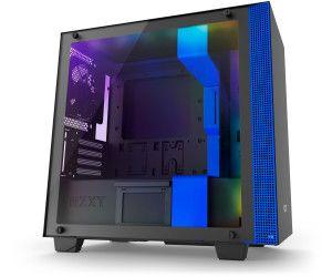 NZXT H400i Micro-ATX Gehäuse - schwarz/blau mit Fenster