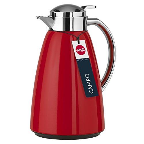 (Amazon Prime ) Emsa 516525 Campo Isolierkanne, 1 Liter, Rot