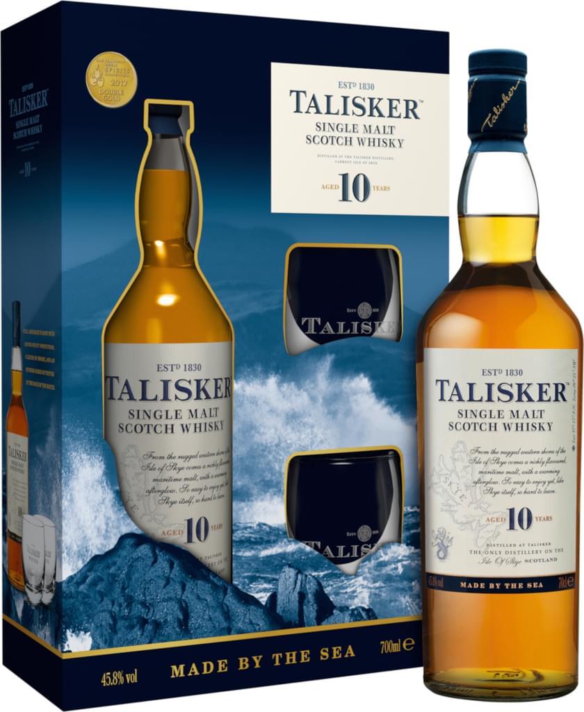 Talisker 10 Jahre Single Malt Whisky   0,7l 45,8% + 2 Gläser bei [Real.de]