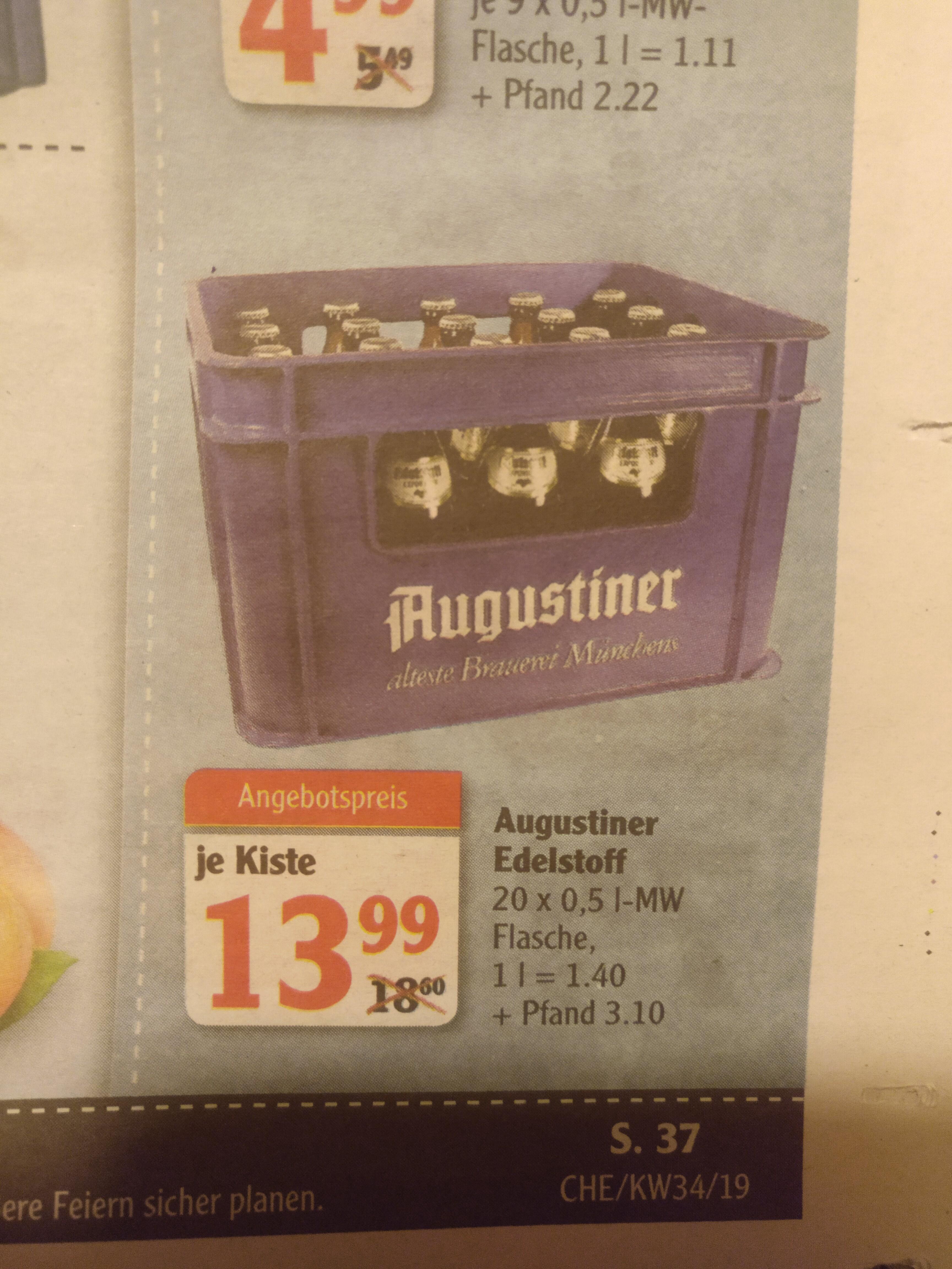 Lokal Globus Chemnitz Bier Augustiner Edelstoff