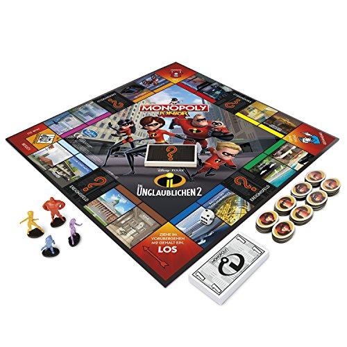 Hasbro Monopoly E1781100 Die 2 Monopoly Junior-Die Unglaublichen, Kinderspiel