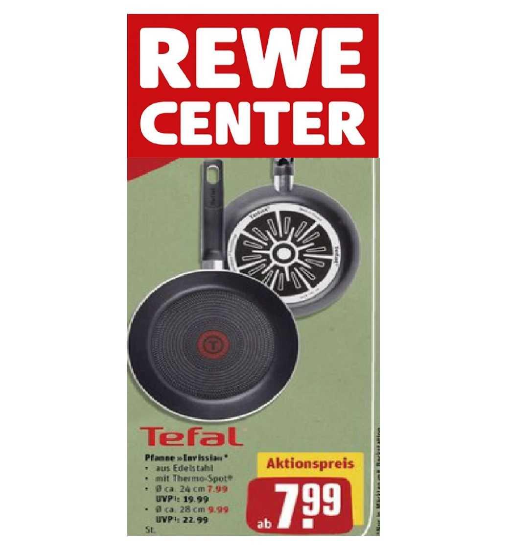 (Offline) Rewe-Center: Tefal Invissia Pfannen ab 24 cm
