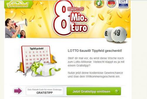 [Lottoland] LOTTO 6aus49 Tippfeld geschenkt (Nur Neukunden)