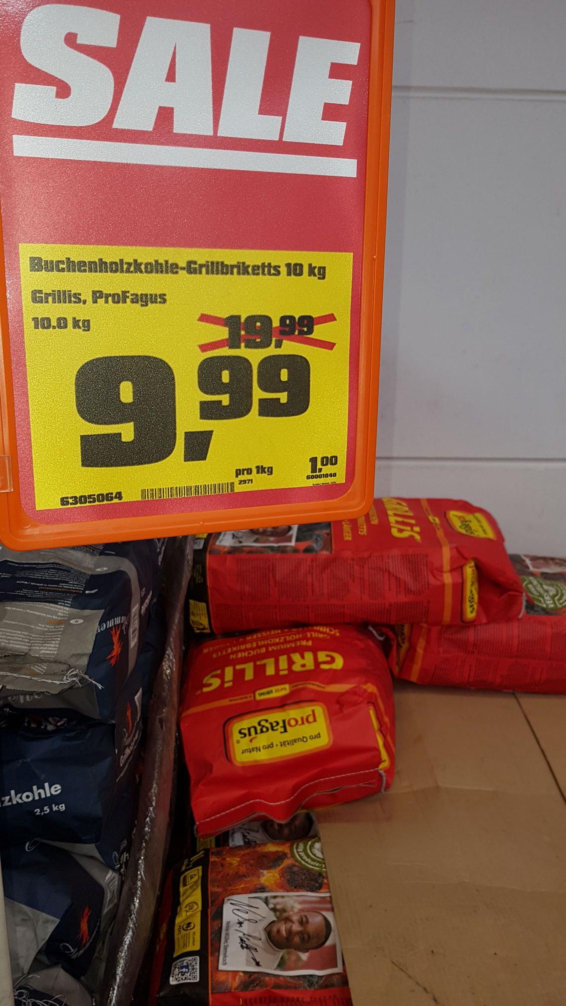 (Lokal) OBI Weinheim ProFagus Holzkohlebriketts 10kg