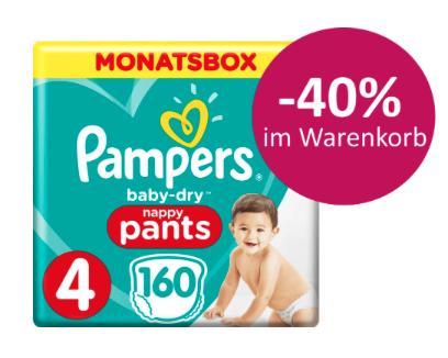 40% Rabatt auf Pampers Baby Dry Pants + NL-Gutschein bei [windeln.de]