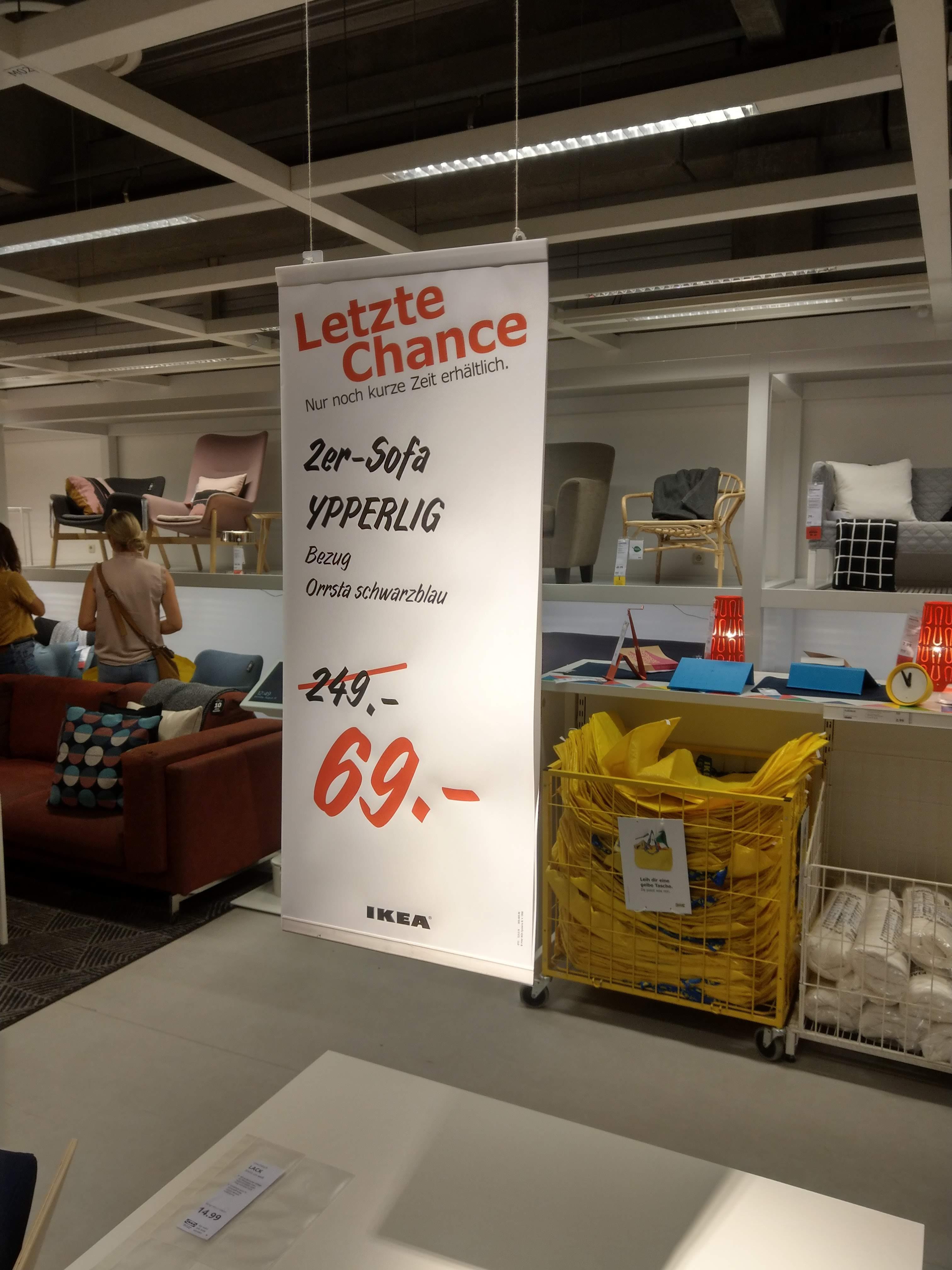 [Lokal IKEA Regensburg] 2er Sofa YPERRLIG für 69 € statt 249 €